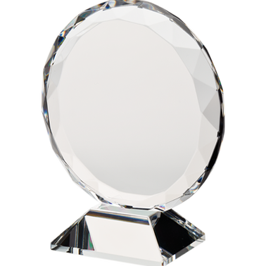 "3 3/4"" ORBIT CRYSTAL AWARD"
