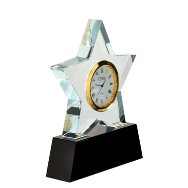 "6.25"" STAR CRYSTAL CLOCK"