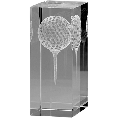 "4""GOLF PAPERWEIGHT 3D LSR CRYS"