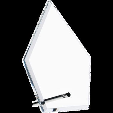 """6"""" ECONOMY DIAMOND CLEAR ACRYL"""