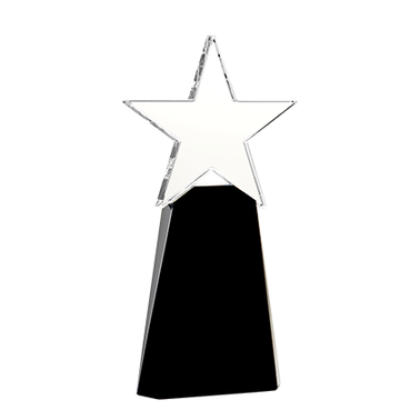 "8"" STAR ELITE CRYSTAL AWARD"