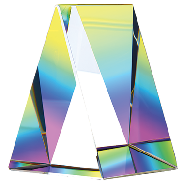 "2.75""CRYSTAL RNBOW PRISM PPRWT"