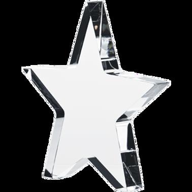 """4.75"""" IDOL ACRYLIC-STAR W/LEGS"""