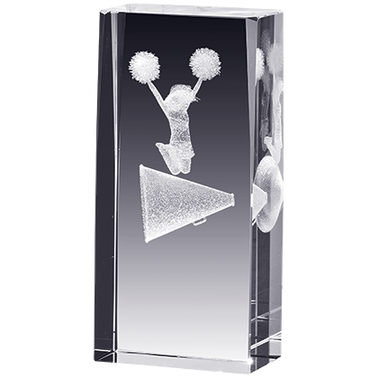 CHEER LASER CUT CRYSTAL AWARD