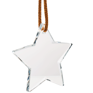 STAR CRYSTAL ORNAMENT-STOCK