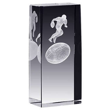 FOOTBALL LASER CUT CRYSTAL AWA