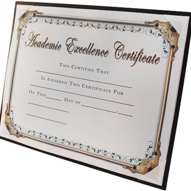 CERTIFICATE HOLDER BLACK