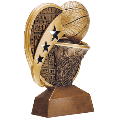 "6"" KUDOS BASKETBALL SCULPTURE"