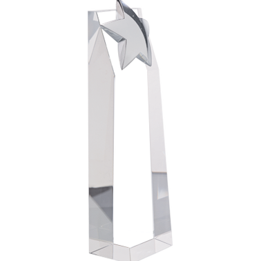 "9.5""RECOGNITION CRYSTAL TOWER"