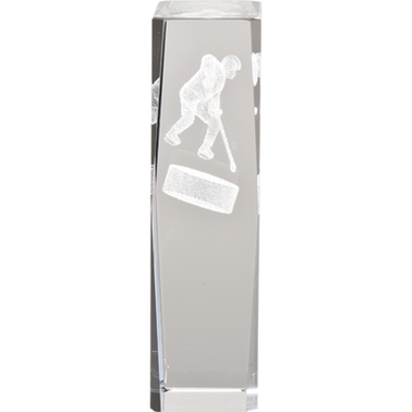 HOCKEY LASER CUT CRYSTAL AWARD