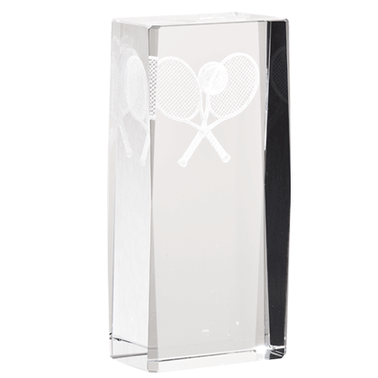 TENNIS LASER CUT CRYSTAL AWARD
