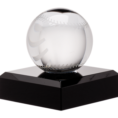 "3"" CRYSTAL BASEBALL"