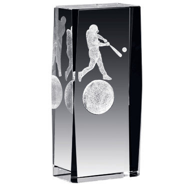 BASEBALL LASER CUT CRYSTAL AWA