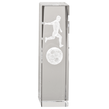 SOCCER MALE LASER CUT CRYSTAL