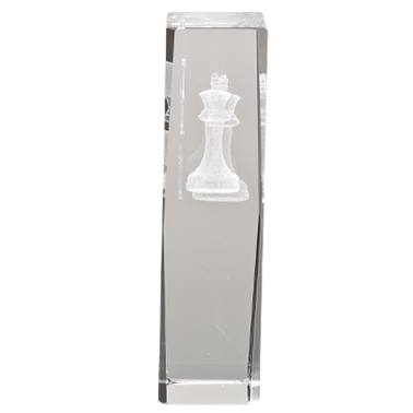 CHESS LASER CUT CRYSTAL AWARD