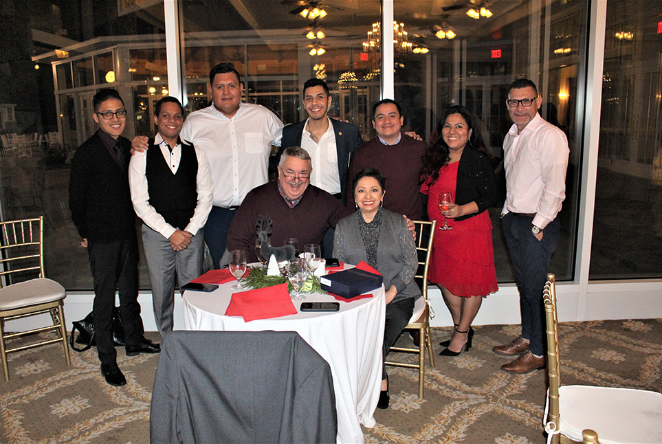 Crown Staff In Front Of World Headquarters