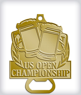 Antique Gold Custom Bottle Opener Medals