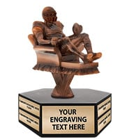 Fantasy Football Couch Potato Hexagon Base Perpetual Trophy