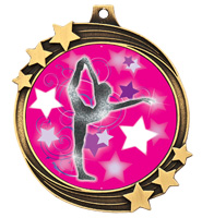 "2 1/2"" Gold Shooting Star Medal"