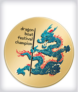 Custom Printed Dragon Boat Pins