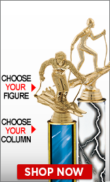 Skiing Column Trophies