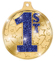 """2"""" Shimmer 1st Place Glitter Medals"""