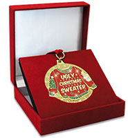 "3"" Ugly Christmas Sweater Glitter Medal"