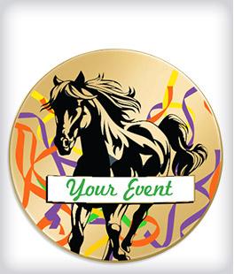 Custom Printed Equestrian Pins