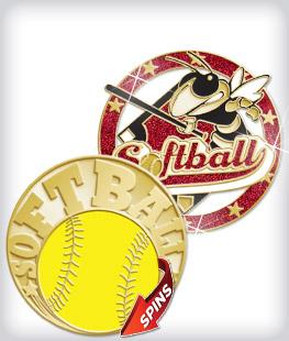 Custom Specialty Softball Pins
