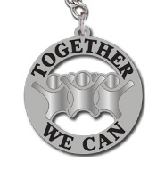 Together We Can Keychains