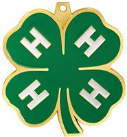 """2 1/2"""" 4-H Clover Medal"""