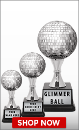Hip Hop Glimmer Ball Trophies