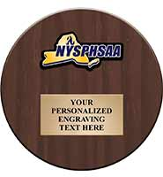 NYSPHSAA Regional Color Printed Round Plaque