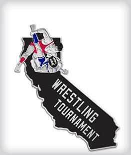 Custom Soft Enamel State Shaped Wrestling Pins