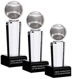 Onyx Pedestal Baseball Awards