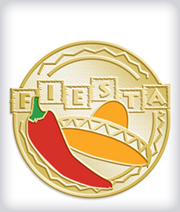 Custom Soft Enamel Fiesta Pins