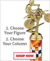Dirt Bike Column Trophies