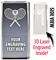 Tennis Laser Crystal