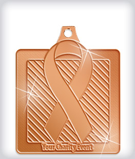 Shiny Bronze Custom Awareness Medals