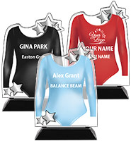 Acrylic Gymnastics Leotard Trophy