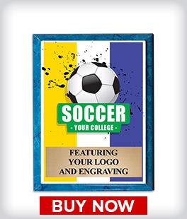 Custom Blue Marbleized Logo Plaque
