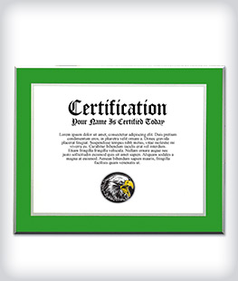 Custom Green Laminated Plaque