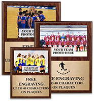 Classic Wood Vertical Photo Plaque