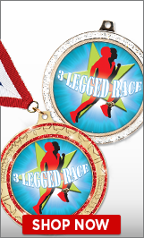 3 Legged Race Medals