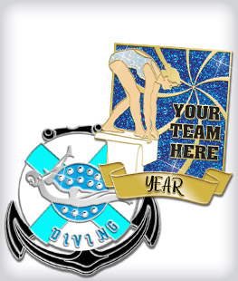 Custom Specialty Swimming Pins