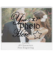 Crystal Photo Wedding Frame