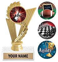 "6 3/4"" Triumph Gold Insert Trophy"