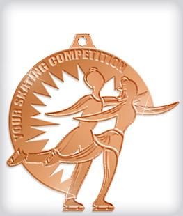 Shiny Bronze Custom Skating Medals