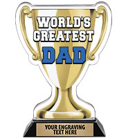 Spectrum Acrylic World's Greatest Dad Trophy