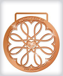 Shiny Bronze Custom Running Medals